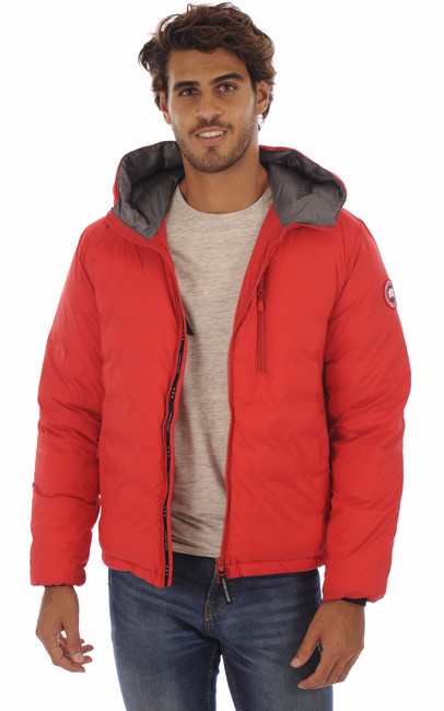 Doudoune Fine Lodge Hoody Red Canada Goose