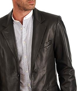 blazer cuir homme smarty la canadienne veste 3 4 cuir. Black Bedroom Furniture Sets. Home Design Ideas