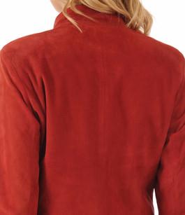 Blouson Femme Cuirs Velours Rouge La Canadienne