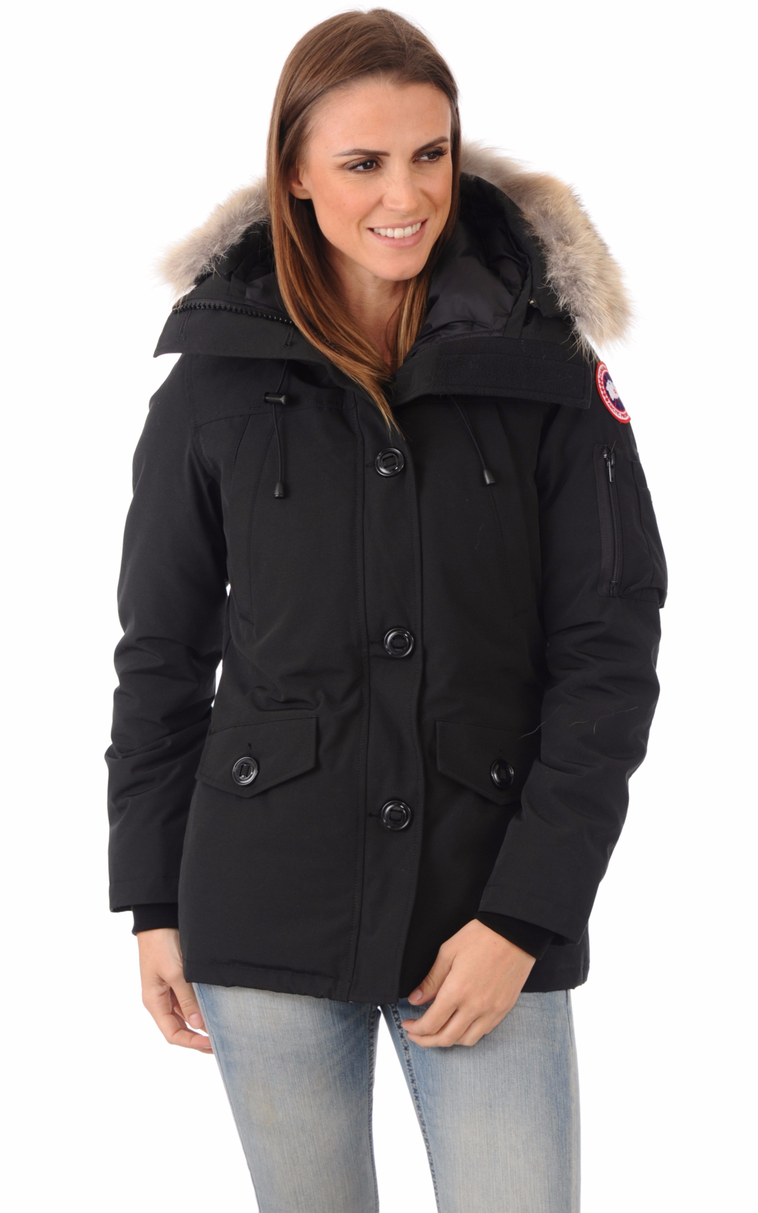 parka montebello black canada goose la canadienne doudoune parka textile noir. Black Bedroom Furniture Sets. Home Design Ideas