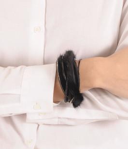 Bracelet Fourrure Vison Noir Tsanikidis