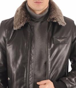 Blouson Texaco Cuir Aviateur Noir Redskins
