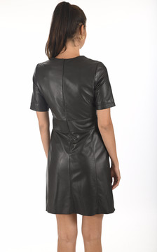 Robe cuir Feline noire