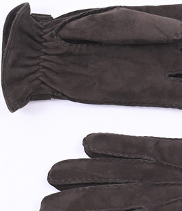 Gants cuir velours marron Hestra