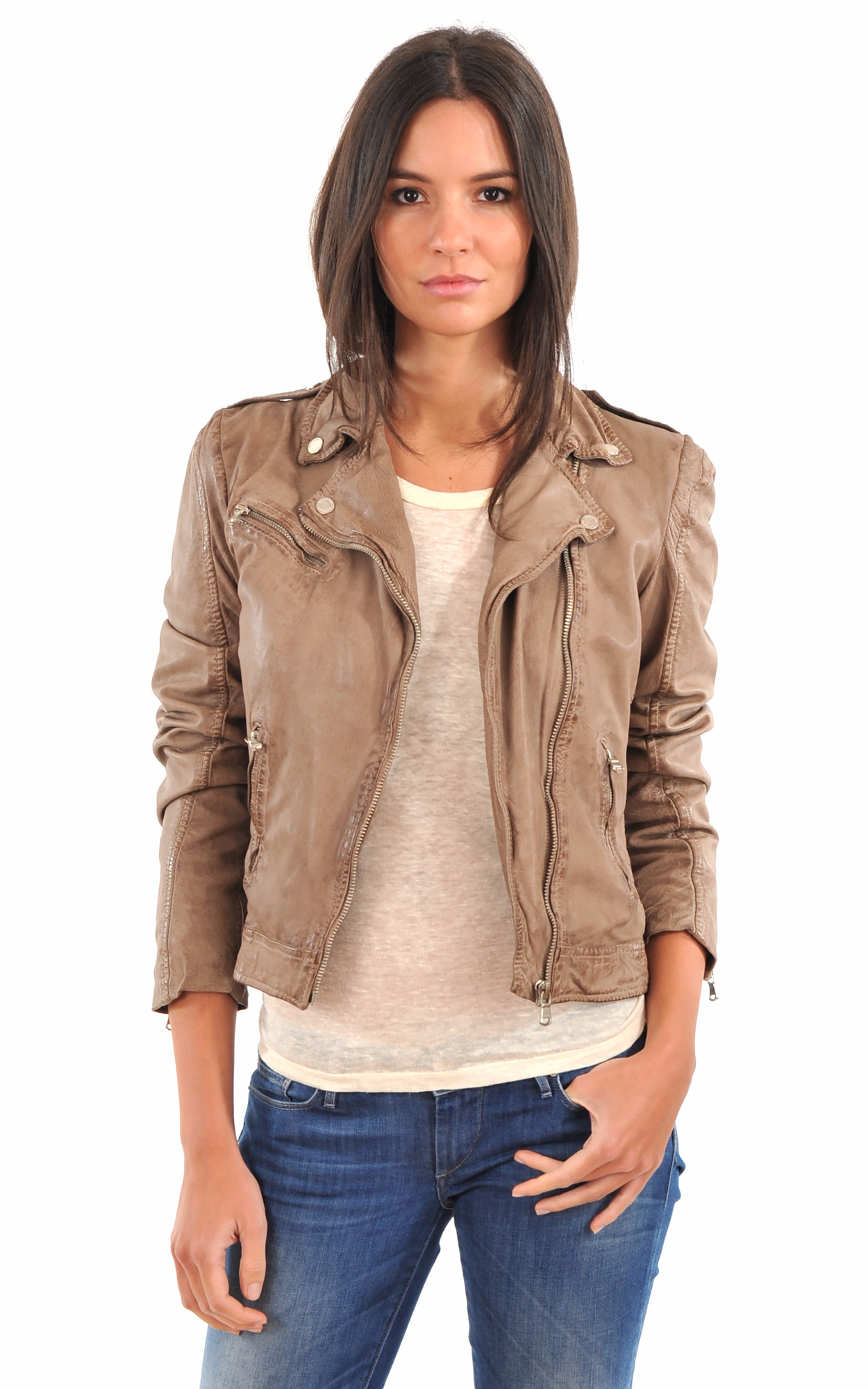 Blouson Lucky Taupe