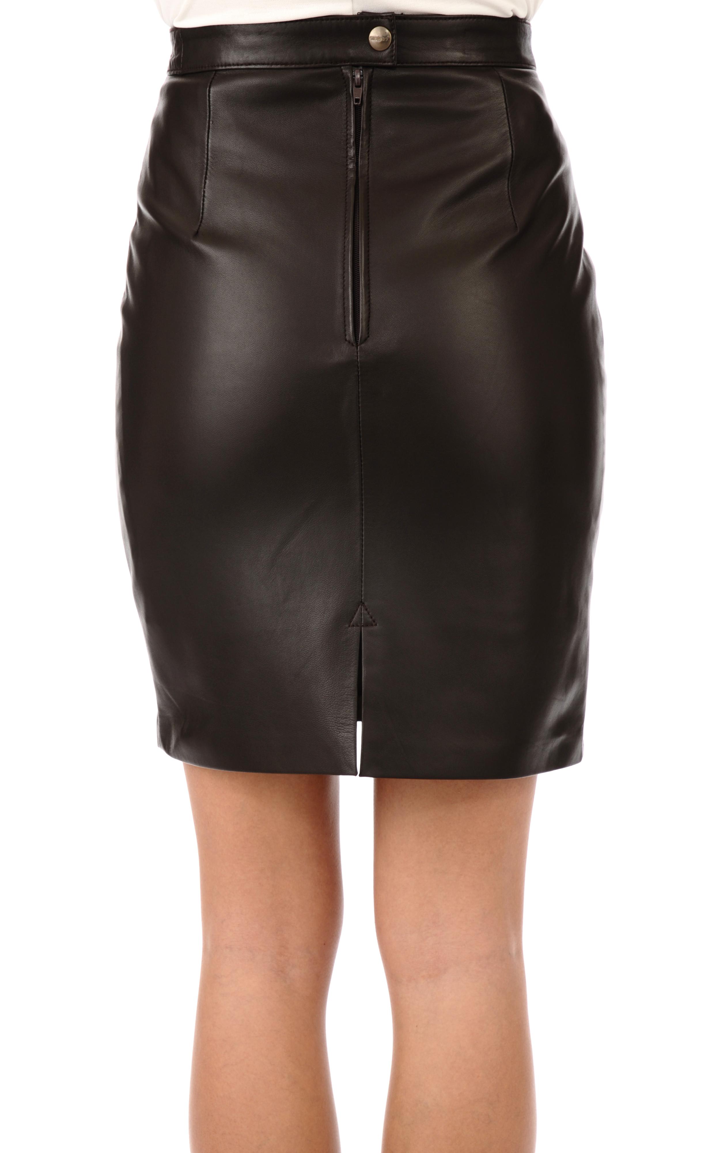6cbfbb1a5116 Jupe droite marron maxi jupe taille haute