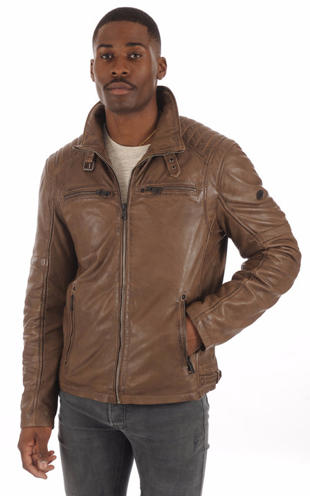 68b8847feea1b Blouson et veste cuir homme Schott Redskins Serge Pariente Oakwood ...