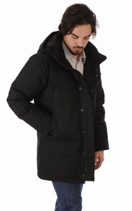 Parka Windermere Black Herringbone