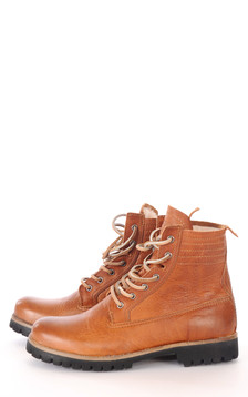 Boots Cuir Cognac Femme1