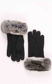 Gants Cuir Velours & Chinchilla1