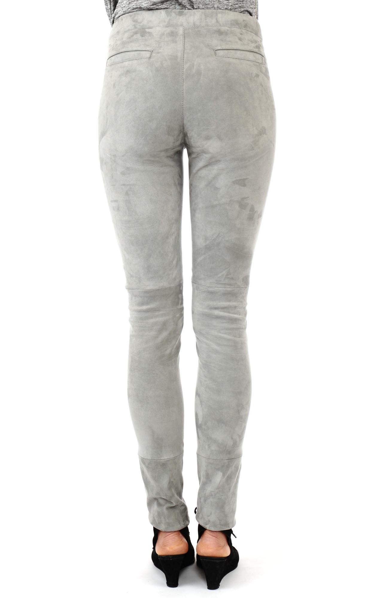 Pantalon Cuir Velours Stretch