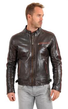 Blouson Cuir Homme Style Motard1