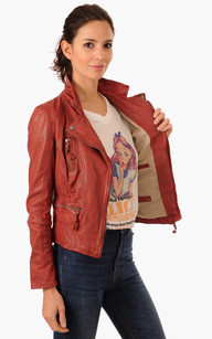 Blouson Style Perf Camera Rouge
