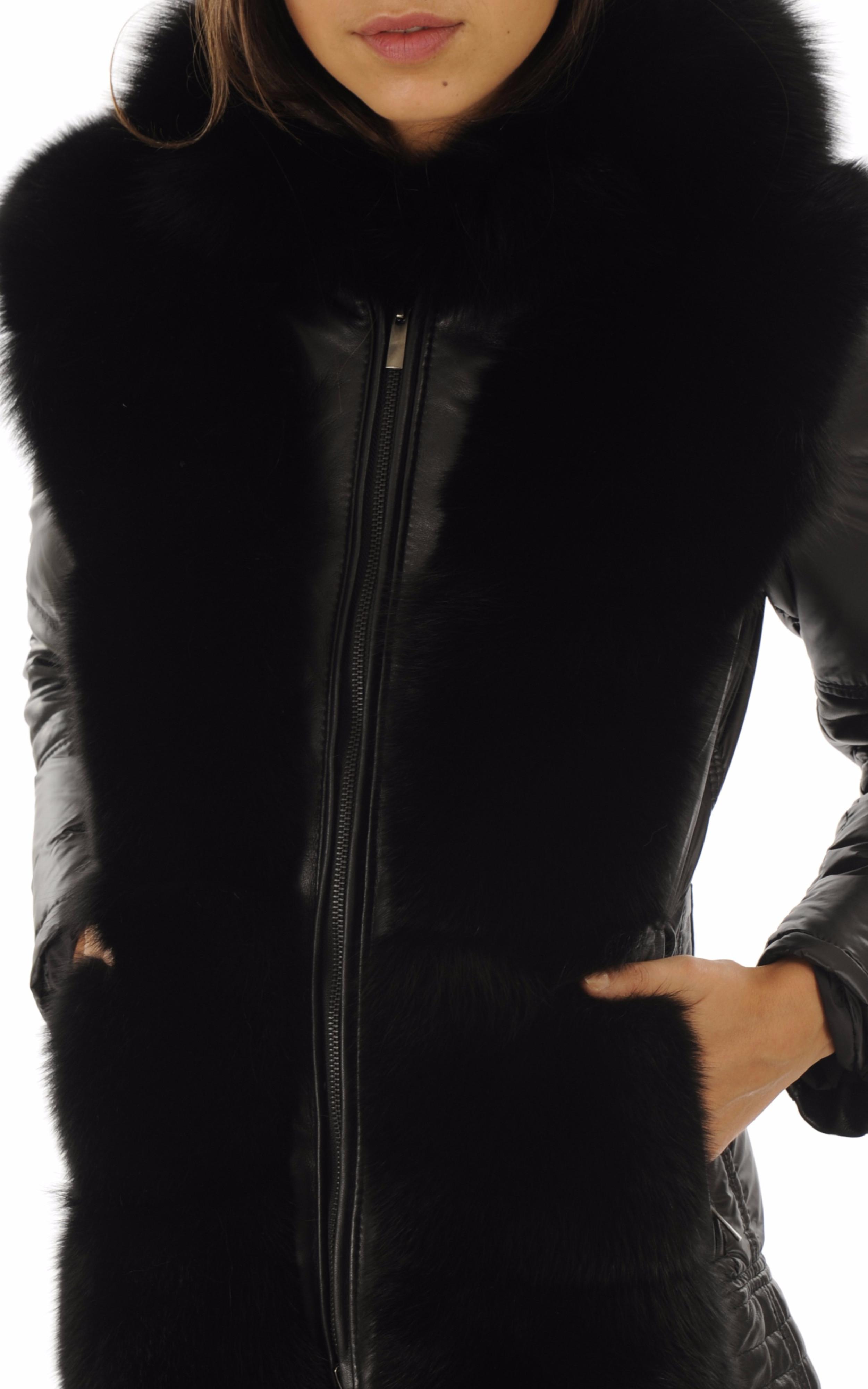 Doudoune courte Pianura noire Flo&Clo