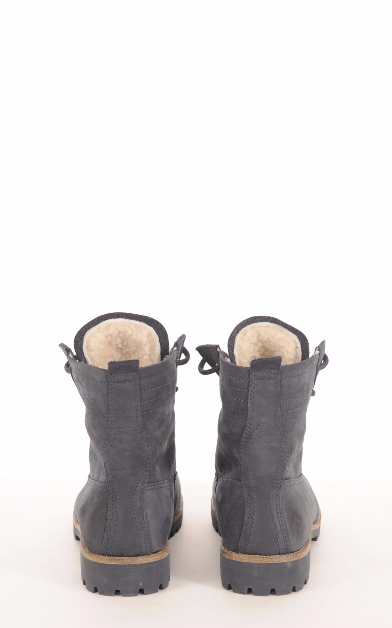 Boots Mouton Bleu Denim Femme