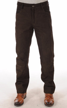 Pantalon Buffle Nubuck Marron1