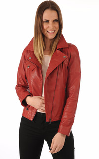 Blouson Cuir Rouge Coupe Perf