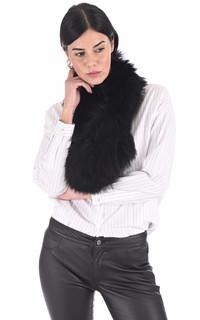 Echarpe renard noir