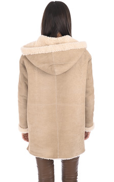 Manteau peau lainée Eden velours