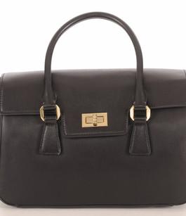 Sac Cuir Noir Style Classique Ted Lapidus