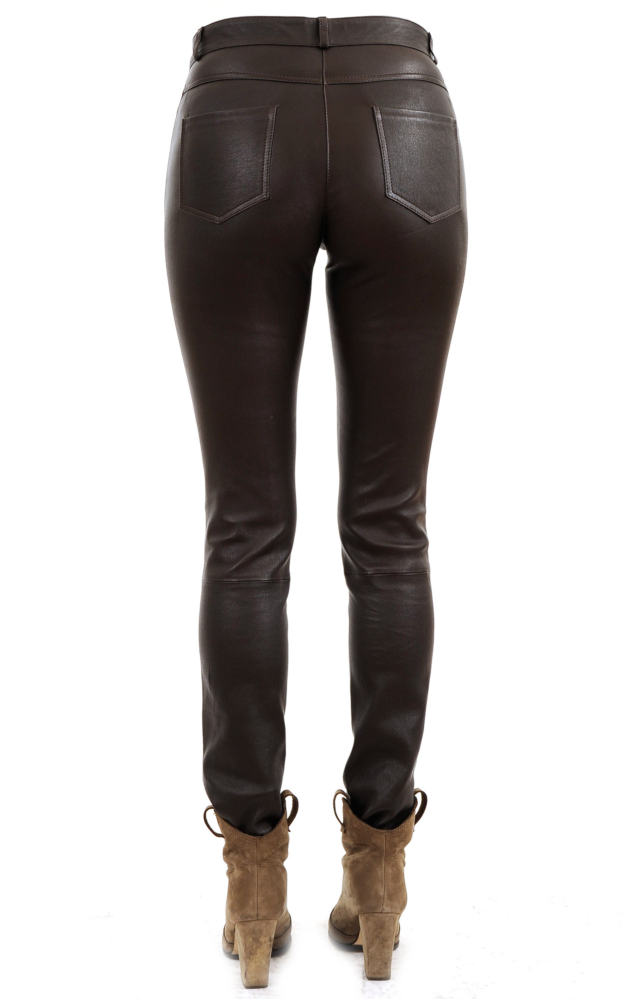 Pantalon Cuir Slim Stretch