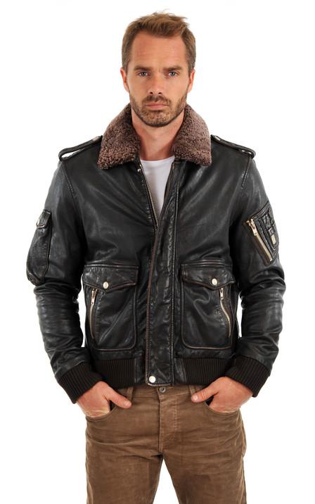a742bc7d33701 Diesel Homme   Blouson cuir et pantalons en cuir Diesel