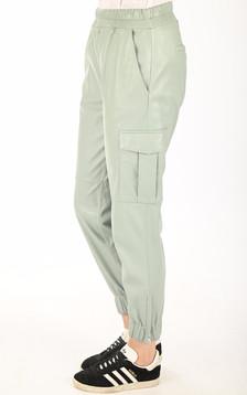 Pantalon Cargo cuir vert amande