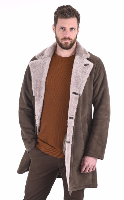 Manteau chic agneau velours Christ