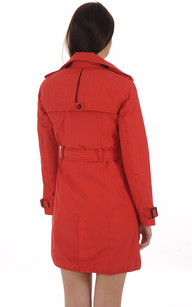 Trench Imperméable JUSTICE Rouge