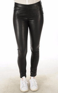 Pantalon Cuir Stretch Noir1