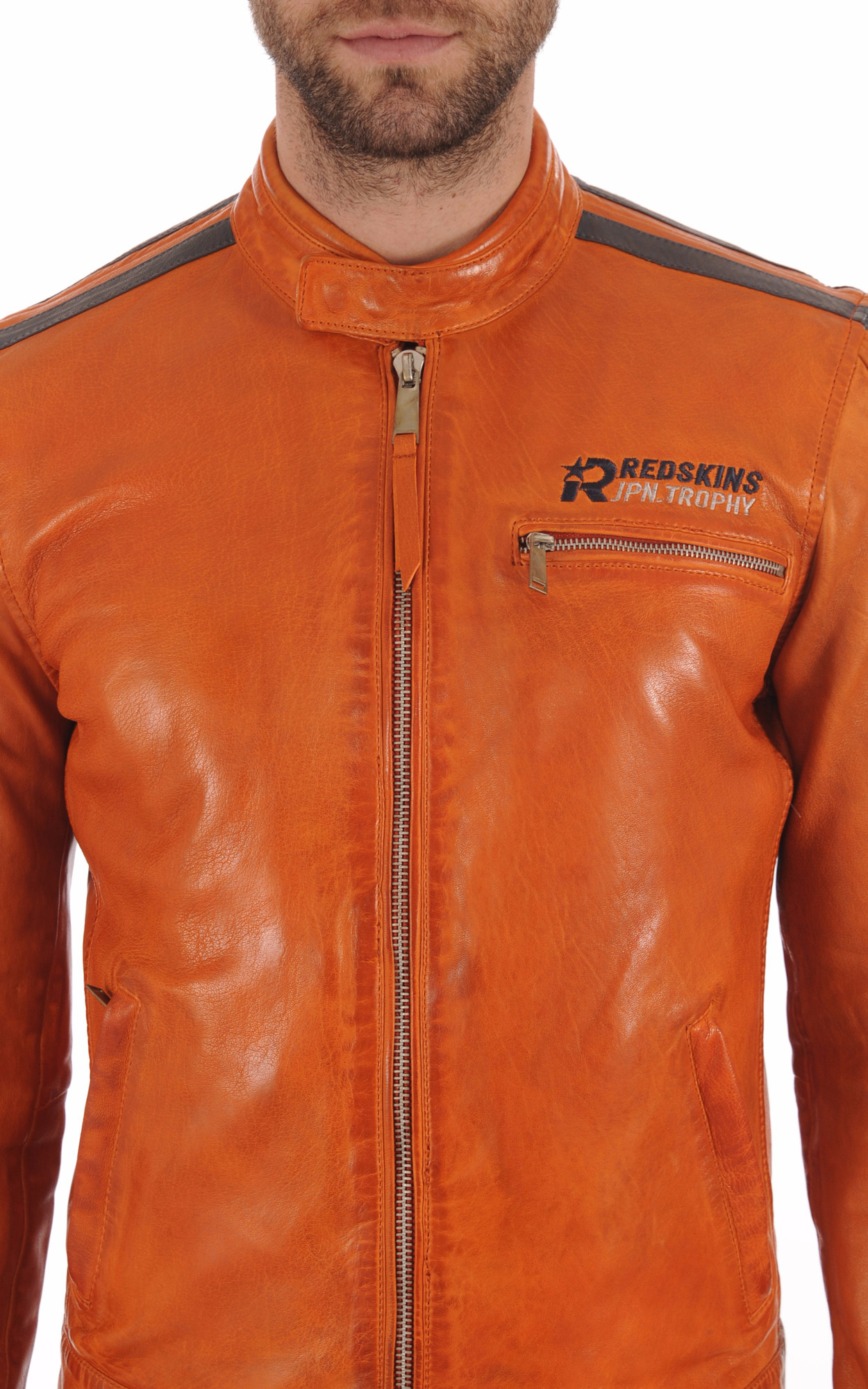 Blouson Motard Cardiff Orange Redskins
