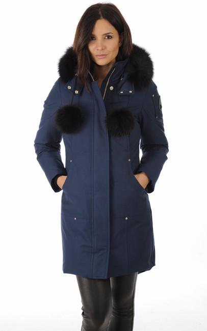 parka stirling bleu marine femme moose knuckles la canadienne doudoune parka textile bleu. Black Bedroom Furniture Sets. Home Design Ideas