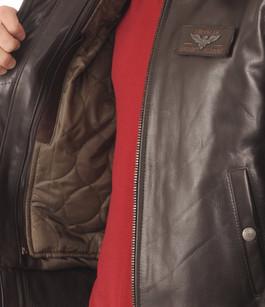 Blouson Texaco Cuir Aviateur Marron Redskins