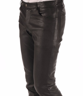 Pantalon Cuir Stretch Noir Homme La Canadienne