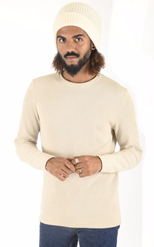 Bonnet en laine Brice blanc