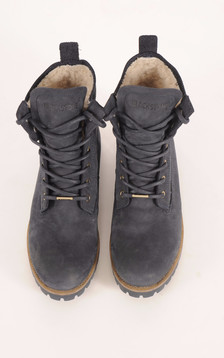 Boots Mouton Bleu Denim Femme1