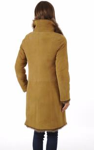 Veste Longue Agneau de Toscane Camel