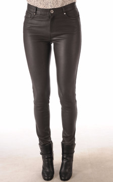 Pantalon Cuir Agneau Stretch Gris1