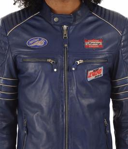 Blouson Iron bleu Classic Legend Motors