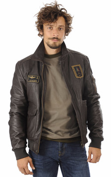 Blouson Cuir Marron Aviation Italienne1
