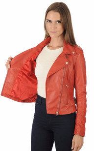 Blouson Style Perfecto City Girl Rouge