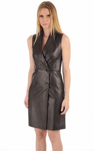 Robe Cuir Noir1