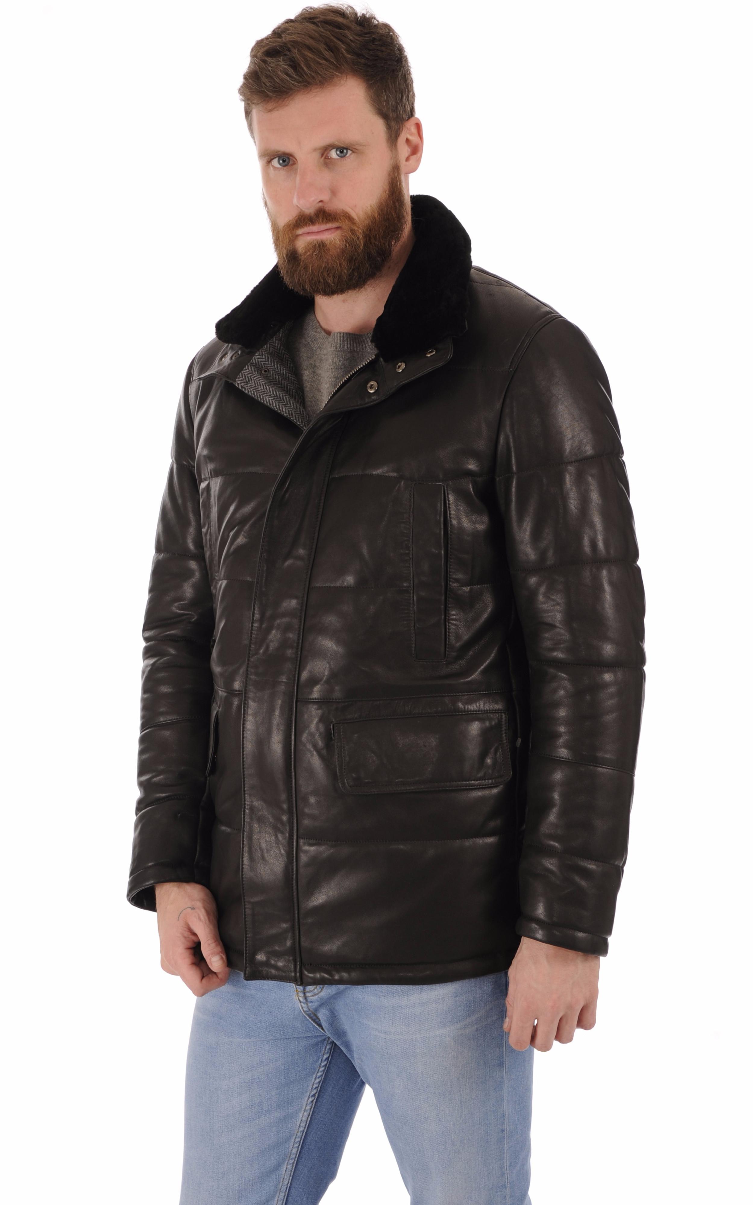 Veste matelassée cuir noir La Canadienne