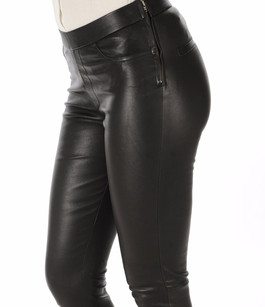Pantalon Cuir Stretch Noir La Canadienne