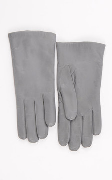 Gants Cuir Femme Gris Perle