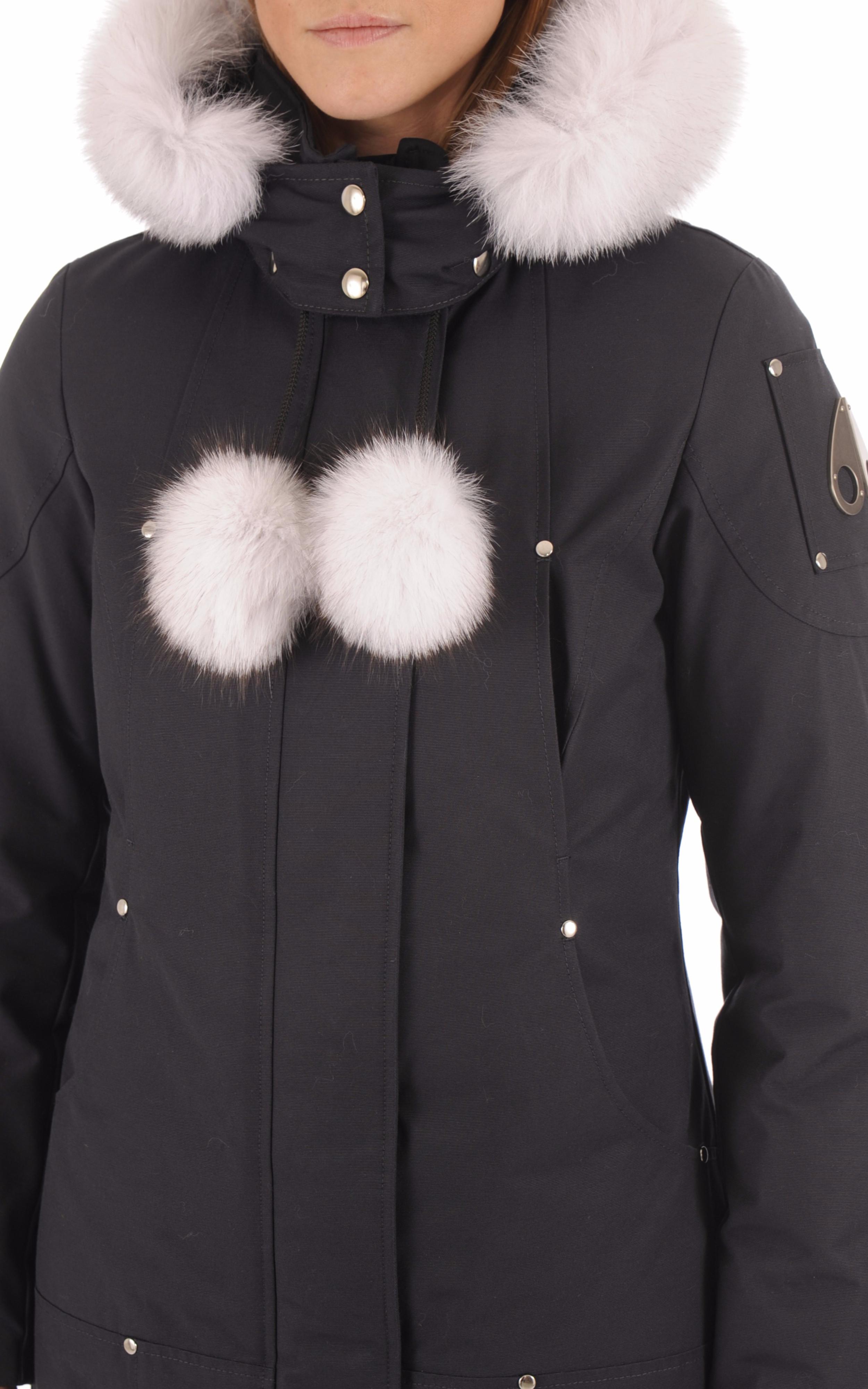 Parka longue Stirling Navy-White Moose Knuckles