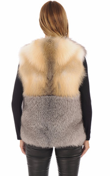 Gilet Femme Fourrure Renard