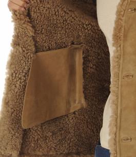 Peau lainé merinos camel Salvatore Santoro