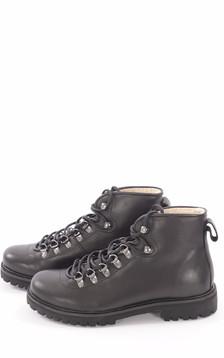Boots Cuir Fourrées Mouton Noir Femme