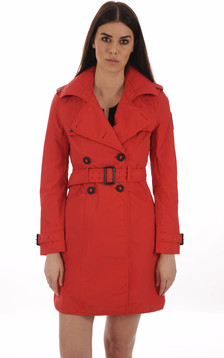 Trench Imperméable JUSTICE Rouge1